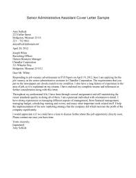 Simple Sample Cover Letter For Senior Management Position 97 About ...