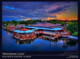 sunset over waterway cafe restaurant palm beach gardens florida