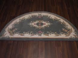 half moon 100 wool rugs new super thick pile 67cmx137cm green cream lovley rugs