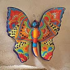 talavera style butterfly wall art on talavera style wall art with gorgeous metal talavera tile style mexican sun wall art cantina