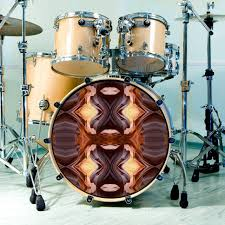 Bass Drum Skin Design Drum Skin Antelope Canyon Design For Bass Snare And Tom