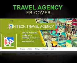 travel banner design vaccation travel agency psd template