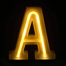 Small Letter Number Led Lamp Light Wedding Party Home Decora Db House