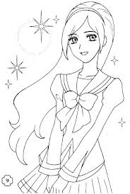 Girl Coloring Pages Printable Coloring Pages Of Anime Girls Free