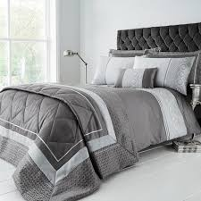 super king duvet cover luxury geo silver tap to expand