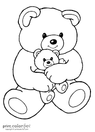 Small Picture Coloring Pages Teddy Bear Coloring Page Free Printable Coloring