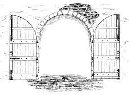 open door pencil drawing. Open Door Pencil Drawing O
