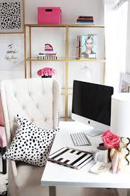 home office layouts ideas chic home office. Modren Chic Meagan Wardu0027s GirlyChic Home Office Office Tour  Pinterest  Spaces Apartments And Spaces With Layouts Ideas Chic U
