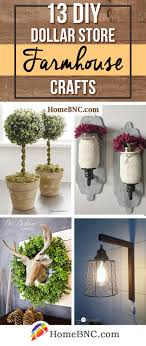 Creative diy rustic home decor ideas Farmhouse 13 Easy Diy Dollar Store Farmhouse Decor Ideas To Add Rustic Flavor To Your Home Elitflat 13 Best Diy Dollar Store Farmhouse Decor Ideas And Designs For 2019