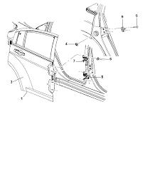 2013 chrysler 200 rear door shell hinges