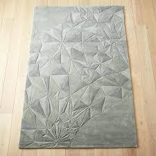 gray geometric rug blue area