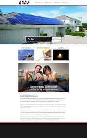 aaa solar contractor website design mockup 702 pros web design aaa solar contractor website design mockup