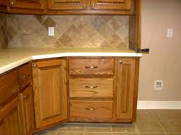 Kitchen Cabinet Furniture White Wooden Corner Kitchen Cabinet With Brown Wood