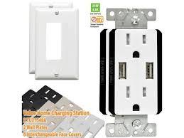 topgreener 2 pk usb charger wall s 15a duplex tamper resistant tr receptacles