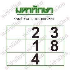 เลขเด่นพารวยจาก หวยซอง หวยมหาทักษา งวดประจำวันที่ 16 เมษายน 2564