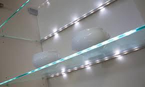 glass shelf lighting. Edge LED Glass Clip Shelf Light Lighting A