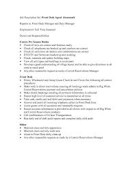 hotel front desk job description resume ayresmarcus