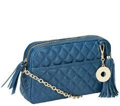 Isaac Mizrahi Live! Bridgehampton Lamb Leather Quilted Handbag ... & Bridgehampton Lamb Leather Quilted Handbag Adamdwight.com