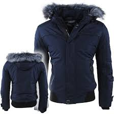 geographical norway men s winterjacket with faux fur collar borrowpark navy winter jackets