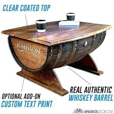 barrel bar table how tables whiskey diy tabletop 4 black stools