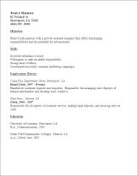 Resume For Stock Clerk Retail Clerk Resume Creative What Is A