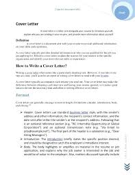Definition Of A Cover Letter Whats Cover Letter Putasgae Info