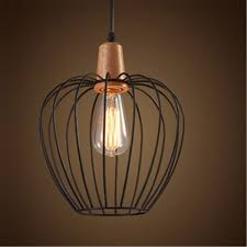 black iron wood pendant light modern ceiling lights