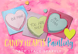 candy hearts valentine s day project