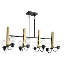 black linear chandelier prospect 6 light chrome