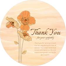 Thank You Sympathy Cards Orange Blooming Flowers Sympathy Card