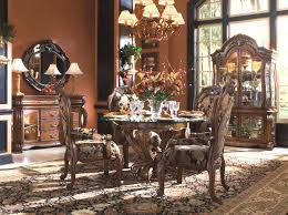 Round Dining Set Oppulente By AICO Aico Room Furniture Inside Michael Amini  Table Idea 16