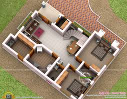 3d floor plan of 1496 sq ft home kerala home design and floor plans
