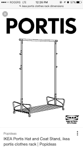 Coat Rack Dimensions Find more Ikea Portis Clothing Rack for sale at up to 100% off 44