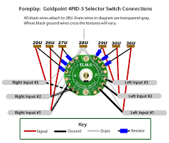 goldpoint selector switch and attenuator connection diagrams selector switch wiring diagram Selector Switch Wiring Diagram #14