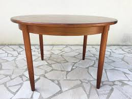 vintage round rosewood dining table for at pamono within design 0