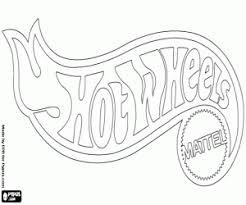 Kleurplaat Hot Wheels Logo Van Mattel Kleurplaten