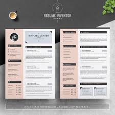 2 Page Cv Template Modern Resume Cv Template 3 Pages