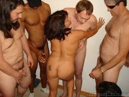 Mature gang bang orgy
