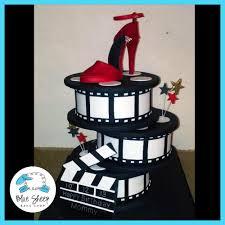 Stacked Film Reel Birthday Cake - Blue Sheep Bake Shop Birthday Cakes