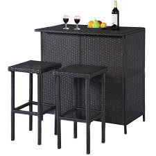 wicker bar height dining table: for those looking to maximize the space in their living room a sectional sofa is probably the best choice not only does sectional living room furniture