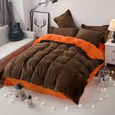 free modern style soft fay velvet duvet cover set bed sheet pillowcase king size super
