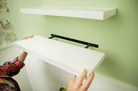 how to install floating shelves the