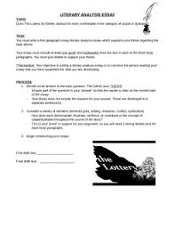 literary analysis the lottery by jcferguson teachers pay teachers literary analysis the lottery