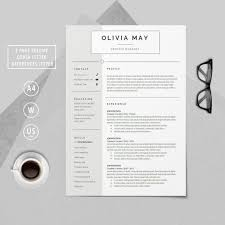 Modern Resume Cover Letters Resume Template Professional Resume Cv Template Modern Resume