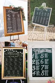 Blackboard Seating Chart 32 Creative Reception Seating Chart And Place Card Ideas