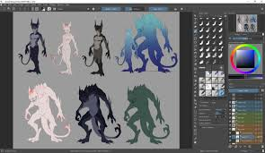 Monster Height Chart Still Working On This Now More Color Variations And A