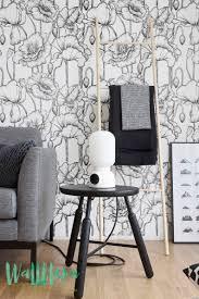 Poppy Patroon Behang Verwisselbare Wallpaper Poppy Behang Etsy