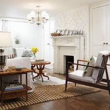 modern living room with brick fireplace. White Brick Fireplace With Mantle View Full Size. Adorable Cottage Living Room Design Modern .