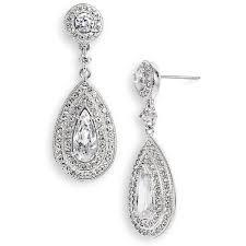 nadri teardrop earrings women s nadri pear drop earrings 1 995 uah â liked on