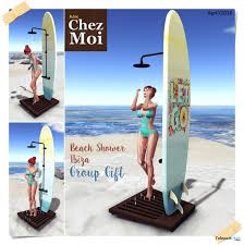 beach shower ibiza april 2016 group gift by chez moi furniture